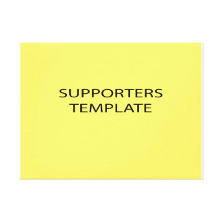 supporters canvas print
