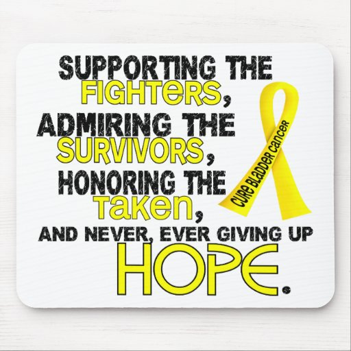 Supporting Admiring Honoring 3.2 Bladder Cancer Mousepad