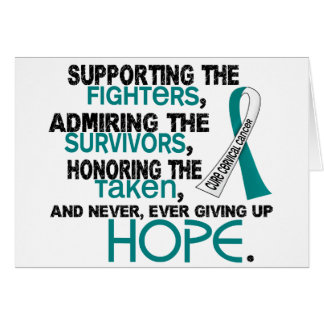 Supporting Admiring Honoring 3.2 Cervical Cancer Greeting Card