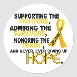 Supporting Admiring Honoring 3.2 Childhood Cancer Classic Round Sticker
