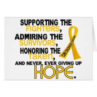Supporting Admiring Honoring 3.2 Childhood Cancer Greeting Card