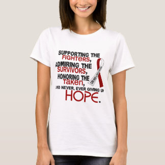 Supporting Admiring Honoring 3.2 Head Neck Cancer T-Shirt
