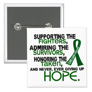 Supporting Admiring Honoring 3.2 Liver Cancer 15 Cm Square Badge