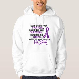Supporting Admiring Honoring 3.2 Pancreatic Cancer Sweatshirts