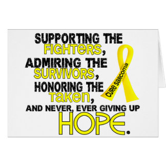 Supporting Admiring Honoring 3.2 Sarcoma Cards