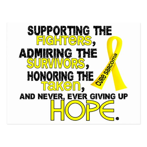 Supporting Admiring Honoring 3.2 Sarcoma Post Cards