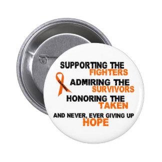 Supporting Admiring Honoring 3 LEUKEMIA 6 Cm Round Badge