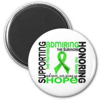 Supporting Admiring Honoring 9 Non-Hodgkins Lympho Refrigerator Magnet