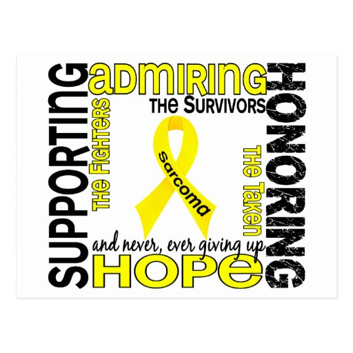 Supporting Admiring Honoring 9 Sarcoma Post Cards