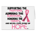 Supporting Admiring Honouring 3.2 Breast Cancer Greeting Cards