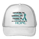 Supporting Admiring Honouring 3.2 Ovarian Cancer Trucker Hat