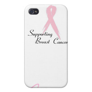 """Supporting Breast Cancer"" products Covers For iPhone 4"