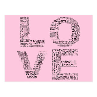 Supporting Loved Ones (Black Text) Postcards