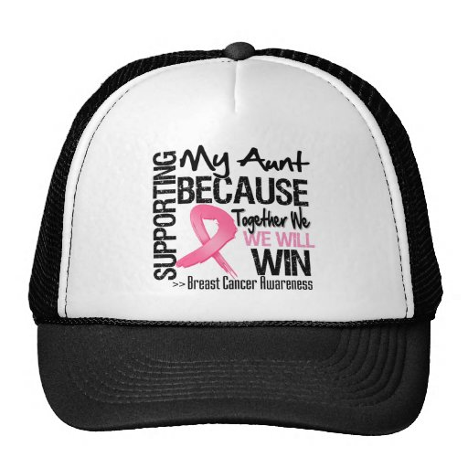 Supporting My Aunt - Breast Cancer Awareness Trucker Hat