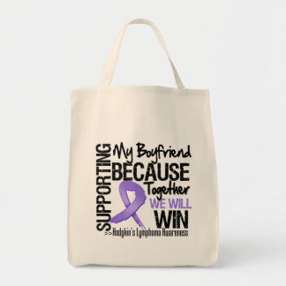 Supporting My Boyfriend - Hodgkin's Lymphoma Tote Bag