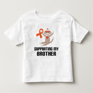 Supporting My Brother Orange Awareness Ribbon Tshirt