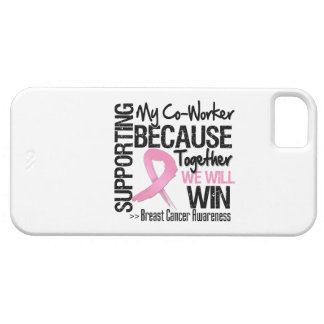 Supporting My Co-Worker - Breast Cancer Awareness iPhone 5 Covers