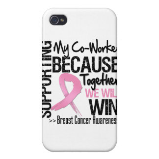 Supporting My Co-Worker - Breast Cancer Awareness iPhone 4 Covers
