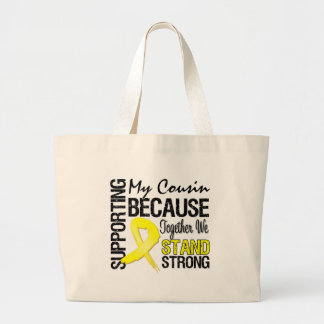 Supporting My Cousin We Stand Strong - Military Large Tote Bag