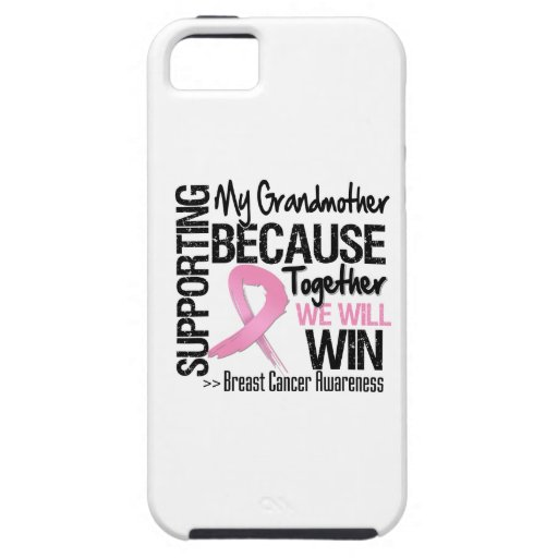 Supporting My Grandmother - Breast Cancer Awarenes iPhone 5 Covers