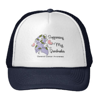Supporting My Grandmother - Cancer Awareness Mesh Hat