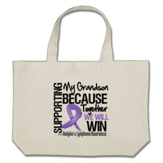 Supporting My Grandson - Hodgkin's Lymphoma.png Canvas Bag