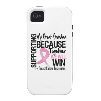 Supporting My Great-Grandma - Breast Cancer Awaren iPhone 4 Cover
