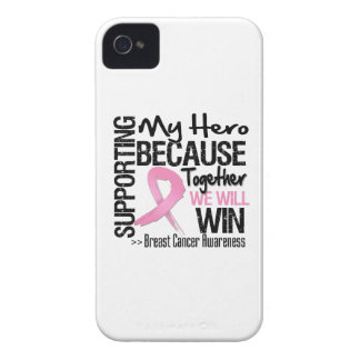 Supporting My Hero - Breast Cancer Awareness iPhone 4 Cover