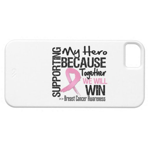 Supporting My Hero - Breast Cancer Awareness iPhone 5 Case
