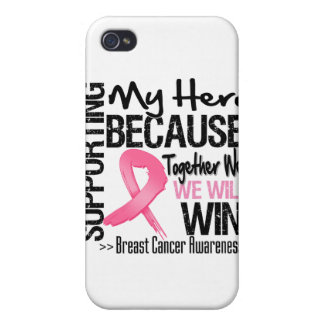 Supporting My Hero - Breast Cancer Awareness iPhone 4/4S Covers
