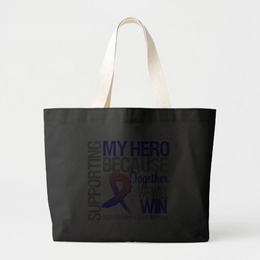 Supporting My Hero - Male Breast Cancer Awareness Bags