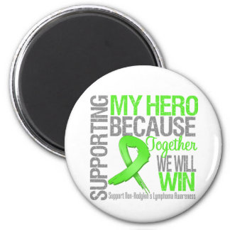 Supporting My Hero - Non-Hodgkins Lymphoma 6 Cm Round Magnet