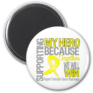 Supporting My Hero - Testicular Cancer Awareness 6 Cm Round Magnet