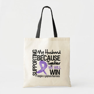 Supporting My Husband - Hodgkin's Lymphoma Tote Bags