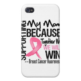 Supporting My Mom - Breast Cancer Awareness Cases For iPhone 4