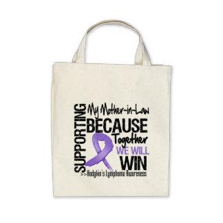 Supporting My Mother-in-Law - Hodgkin's Lymphoma Canvas Bag