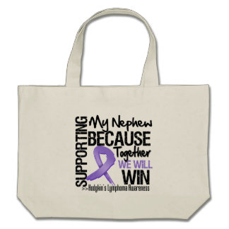 Supporting My Nephew - Hodgkin s Lymphoma Canvas Bag
