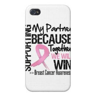 Supporting My Partner - Breast Cancer Awareness iPhone 4/4S Cases