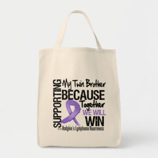 Supporting My Twin Brother - Hodgkin's Lymphoma Tote Bags