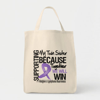 Supporting My Twin Sister - Hodgkin's Lymphoma Canvas Bag