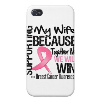 Supporting My Wife - Breast Cancer Awareness iPhone 4 Covers