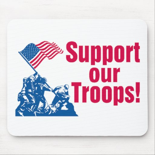 Supporting Our Troops Mouse Pads