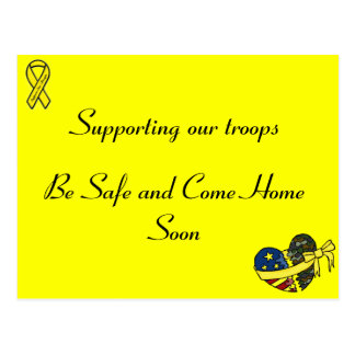 Supporting our troops postcard