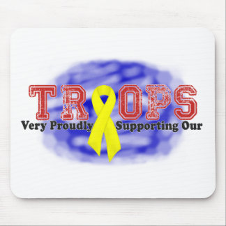 Supporting Our Troops (Ribbon) Mousepads