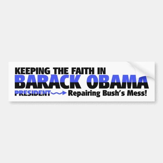 SUPPORTING PRESIDENT OBAMA BUMPER STICKER