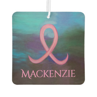 Supportive Auto   Name Bold Pink Breast Cancer Car Air Freshener