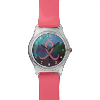 Supportive Bling | Bold Pink Breast Cancer Ribbon Watches