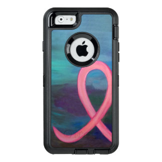 Supportive Bold Pink Breast Cancer Ribbon OtterBox iPhone 6/6s Case