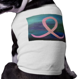 Supportive Pet | Pale Pink Breast Cancer Ribbon Shirt