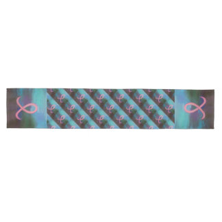 Supportive Table | Bold Pink Breast Cancer Ribbon Medium Table Runner